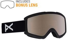Anon Helix 2.0 Ski Goggles - Black / Silver Amber + Amber