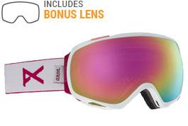 Anon Tempest Ski Goggles - White / Sonar Pink