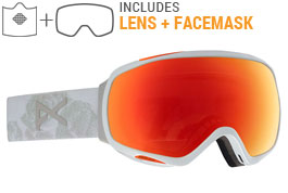 Anon Tempest MFI Ski Goggles - Can't Stop / Sonar Red