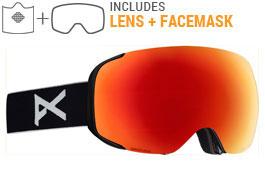 Anon M2 MFI Ski Goggles - Black / Sonar Red + Sonar Blue