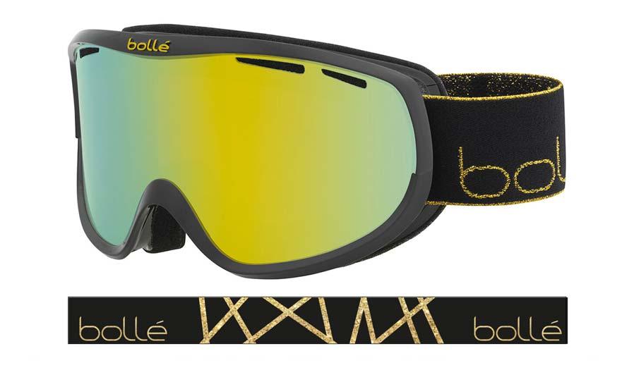 Bolle Sierra Ski Goggles - Shiny Black & Gold / Sunshine