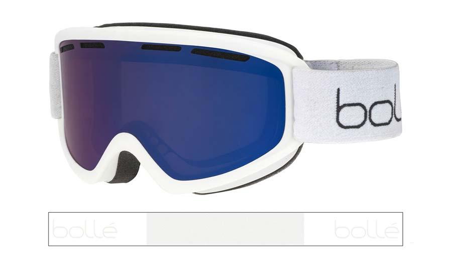 Bolle Freeze Plus Ski Goggles - Matte White / Bronze Blue
