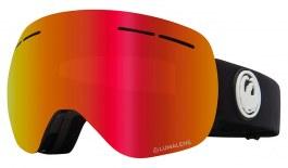 Dragon X1S Prescription Ski Goggles - Black / Lumalens Red Ion + Lumalens Rose