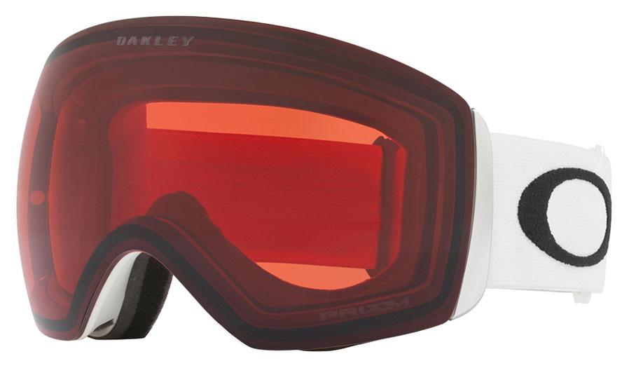 Oakley Flight Deck Ski Goggles - Matte White / Prizm Rose