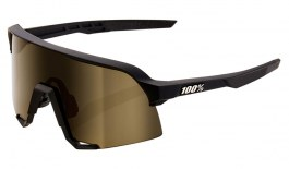 100% S3 Sunglasses - Soft Tact Black / Soft Gold Mirror + Clear