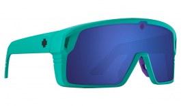 SPY Monolith Sunglasses - Matte Teal / HD+ Grey Green with Dark Blue Spectra Mirror