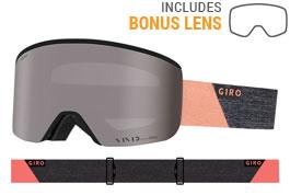Giro Ella Ski Goggles - Grey Peach Peak / Vivid Onyx + Vivid Infrared