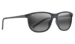 Maui Jim Dragon's Teeth Sunglasses - Grey Stripe / Neutral Grey Polarised
