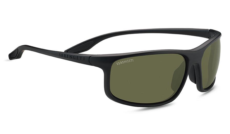 Serengeti Levanzo Sunglasses - Matte Black / 555nm Polarised Photochromic