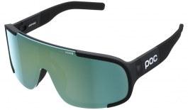 POC Aspire Sunglasses - Translucent Uranium Black / Grey with Deep Green Mirror