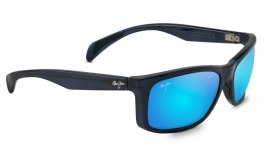 Maui Jim Puhi Sunglasses - Translucent Navy Blue / Blue Hawaii Polarised