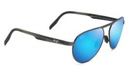 Maui Jim Swinging Bridges Sunglasses - Brushed Dark Gunmetal / Blue Hawaii Polarised