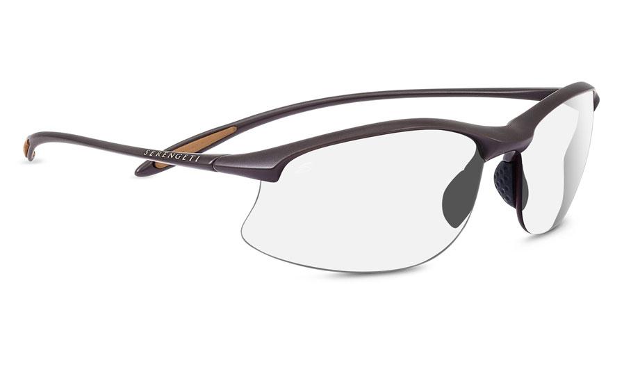 8143186955 Serengeti Maestrale Prescription Sunglasses - Sanded Dark Brown - RxSport
