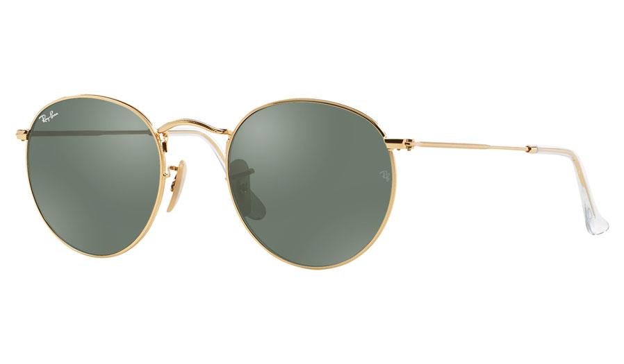 bd7a525379 Ray-Ban RB3447 Round Metal Prescription Sunglasses - Gold - RxSport