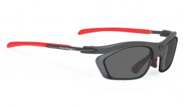 Rudy Project Rydon Slim Prescription Sunglasses - Optical Dock - Matte Graphite & Red