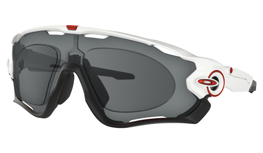 Oakley Jawbreaker Prescription Sunglasses - Polished White (Redline Icon)