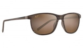 Maui Jim Dragon's Teeth Sunglasses - Brown Stripe / HCL Bronze Polarised
