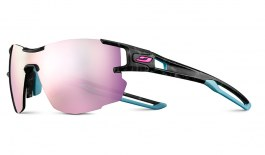 Julbo Aerolite Prescription Sunglasses - Clip-On Insert - Grey Tortoise & Blue / Spectron 3 CF Pink