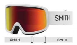 Smith Frontier Ski Goggles - White / Red Sol-X Mirror