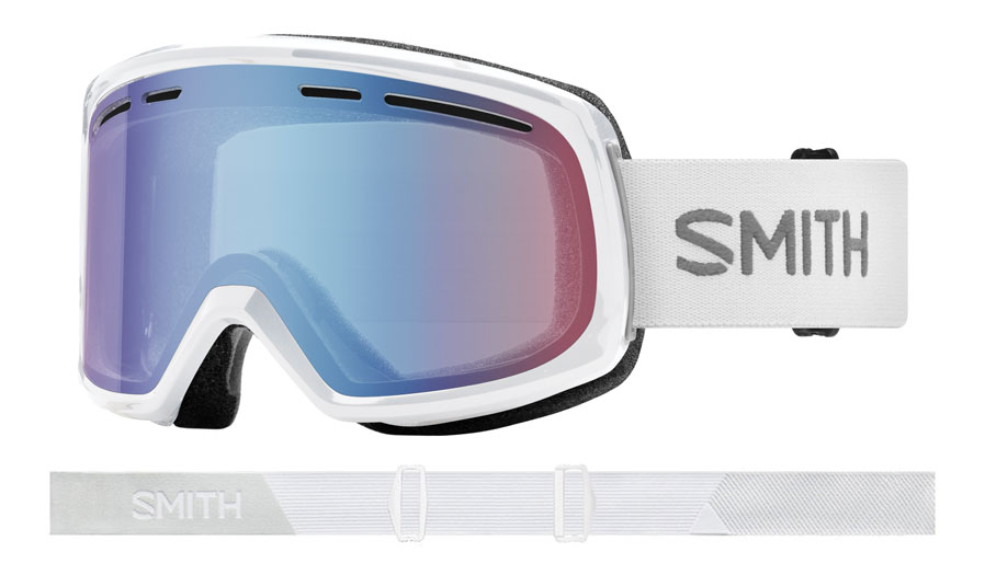Smith Optics Range Prescription Ski Goggles - White / Blue Sensor Mirror
