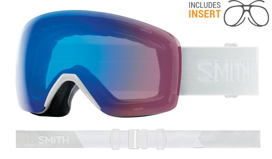 Smith Optics Skyline Prescription Ski Goggles - White Vapor / ChromaPop Storm Rose Flash