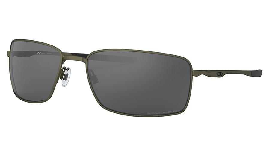 Oakley Square Wire Sunglasses - Carbon / Grey Polarised