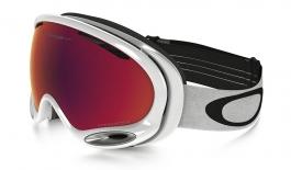 Oakley A Frame 2.0 Ski Goggles - Polished White / Prizm Torch Iridium