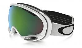 Oakley A Frame 2.0 Ski Goggles - Polished White / Prizm Jade Iridium