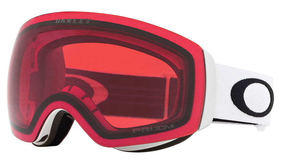 Oakley Flight Deck XM Prescription Ski Goggles - Matte White / Prizm Rose