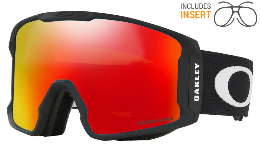 30dda4e39f4 Oakley Line Miner Prescription Ski Goggles - Matte Black   Prizm Torch  Iridium - RxSport