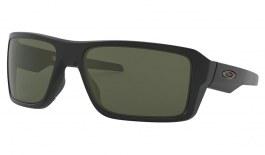 Oakley Double Edge Sunglasses - Matte Black / Dark Grey