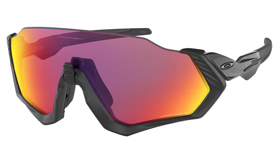 Oakley Flight Jacket Sunglasses - Polished Black / Prizm Road