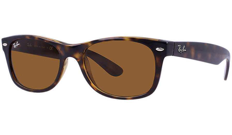 84f76c05b3b Ray-Ban RB2132 New Wayfarer Sunglasses - Tortoise   Brown (B-15 XLT) -  RxSport