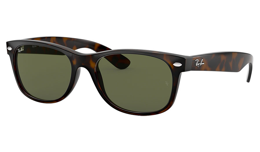 Ray-Ban RB2132 New Wayfarer Sunglasses - Tortoise / Green