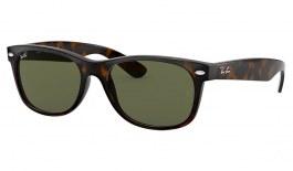 Ray-Ban RB2132 New Wayfarer Sunglasses - Tortoise / G-15 Green