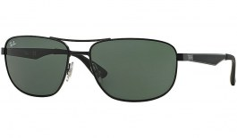 Ray-Ban RB3528 Sunglasses - Black / Green
