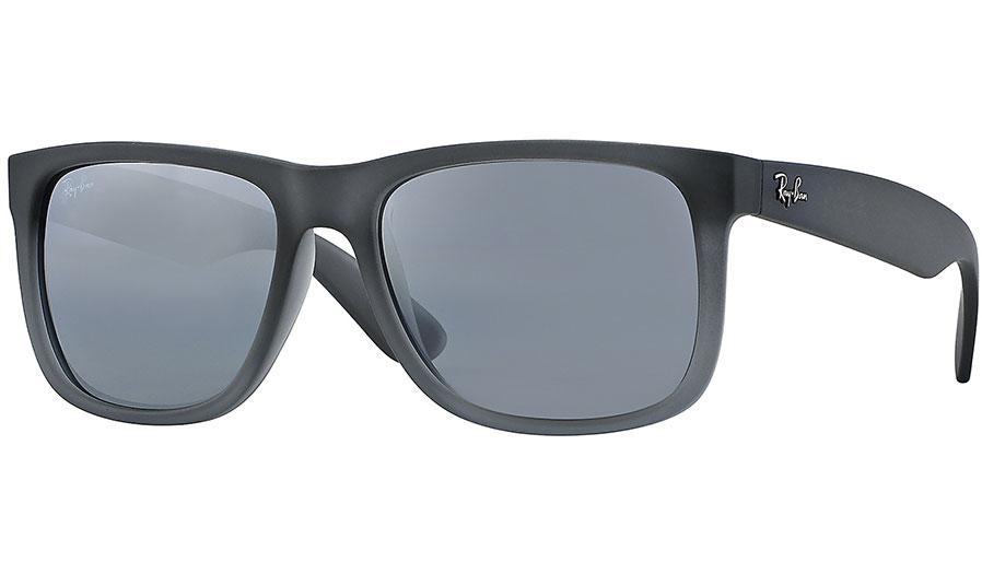 08c54198956 Ray-Ban RB4165 Justin Sunglasses - Grey   Grey Gradient Silver Mirror -  RxSport