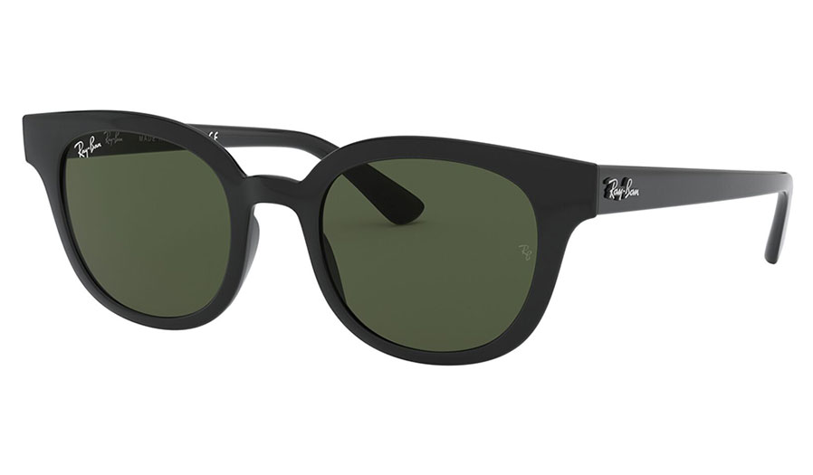 Ray-Ban RB4324 Sunglasses - Black / Green