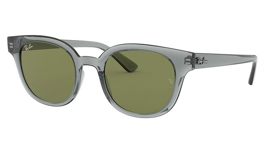 Ray-Ban RB4324 Sunglasses - Transparent Grey / Green