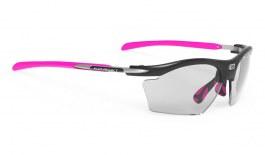 Rudy Project Rydon Slim Prescription Sunglasses - Clip-On Insert - Black Gloss / ImpactX 2 Photochromic Black