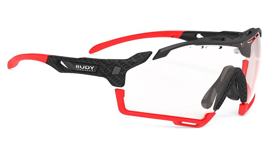 Rudy Project Cutline Prescription Sunglasses - Clip-On Insert - Carbonium / ImpactX 2 Photochromic Red