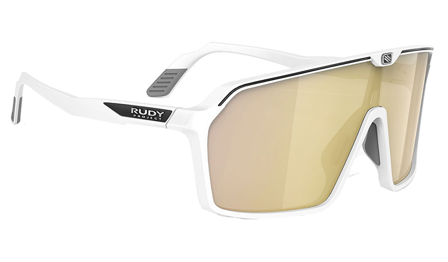 Rudy Project Spinshield Sunglasses - Matte White / Multilaser Gold