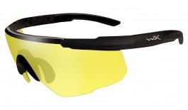 Wiley X Saber Advanced Prescription Sunglasses - Clip-On Insert - Matte Black / Yellow