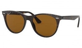 Ray-Ban RB2185 Wayfarer II Sunglasses - Havana / Brown Polarised