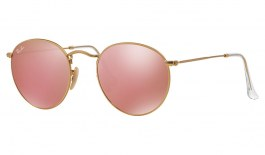 Ray-Ban RB3447 Round Metal Sunglasses - Matte Gold / Copper Flash