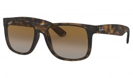 Ray-Ban RB4165 Justin Sunglasses - Tortoise / Brown Gradient Polarised