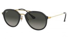 Ray-Ban RB4253 Sunglasses - Black & Gold / Grey Gradient