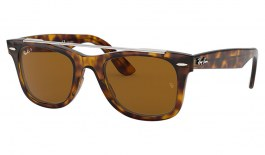 Ray-Ban RB4540 Wayfarer Double Bridge Sunglasses - Havana / Brown Polarised