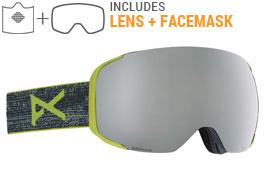 Anon M2 MFI Ski Goggles - Weave / Sonar Silver + Sonar Green