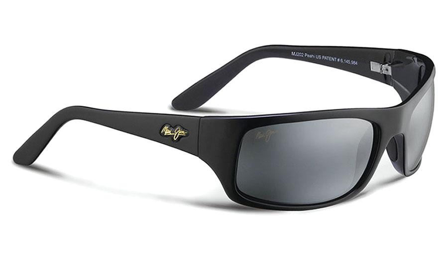 Maui Jim Peahi Sunglasses - Gloss Black / Neutral Grey Polarised
